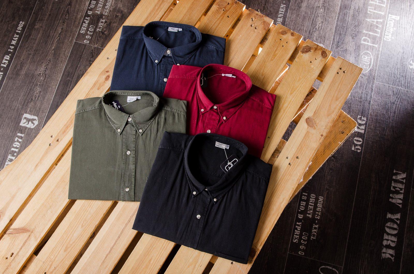 Auswahl edler Hemden zum Knöpfen für Herren in Übergrößen