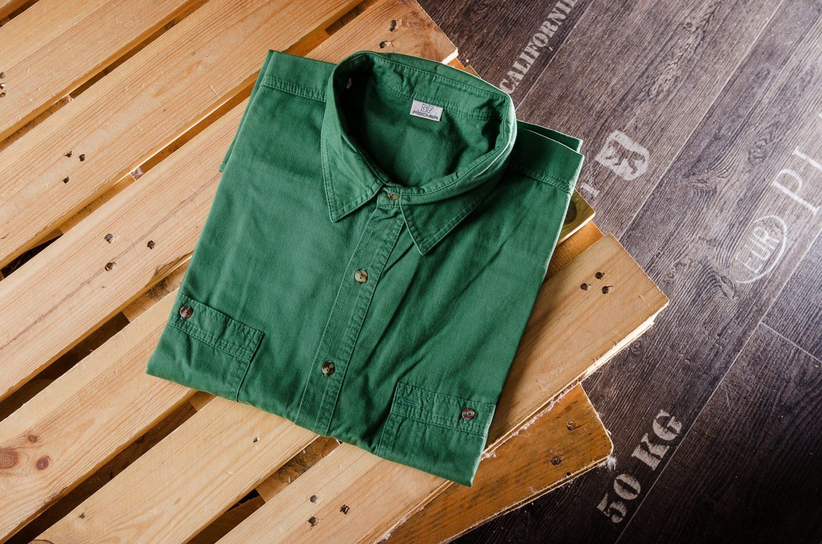 Grünes Hemd für Männer in Übergröße