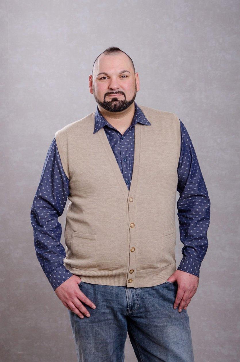 Weste mit Pullover in Übergröße