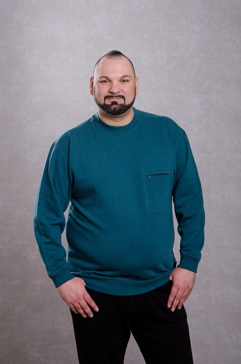 Rundhals-Pullover dunkelblau